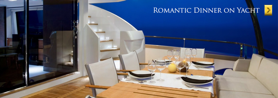 Romantic boat dinner